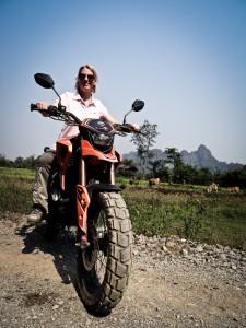 Simone auf dem Bike